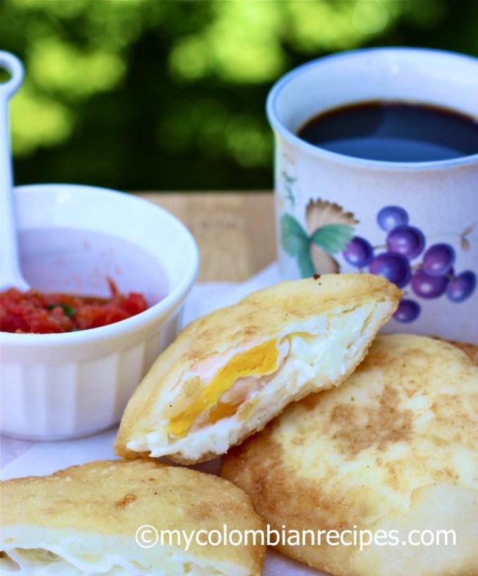 Arepa Filled with Egg (Arepa de Huevo) | My Colombian Recipes