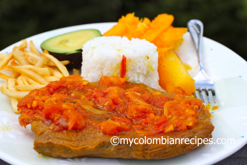 Sobrebarriga En Salsa Criolla Flank Steak With Colombian