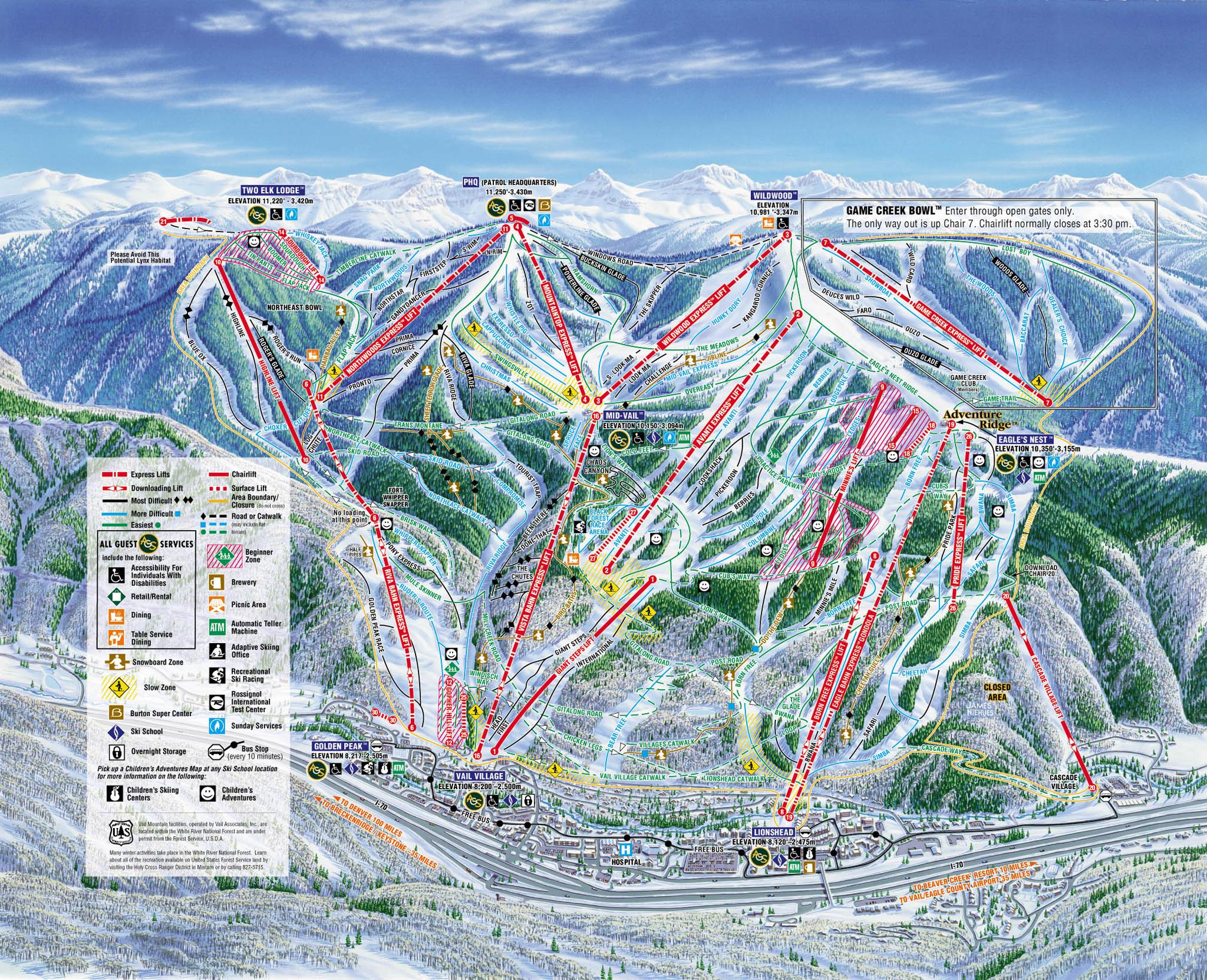 Vail Ski Map