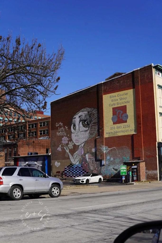 Gettin Lucky In Kentucky Mural - Louisville Murals