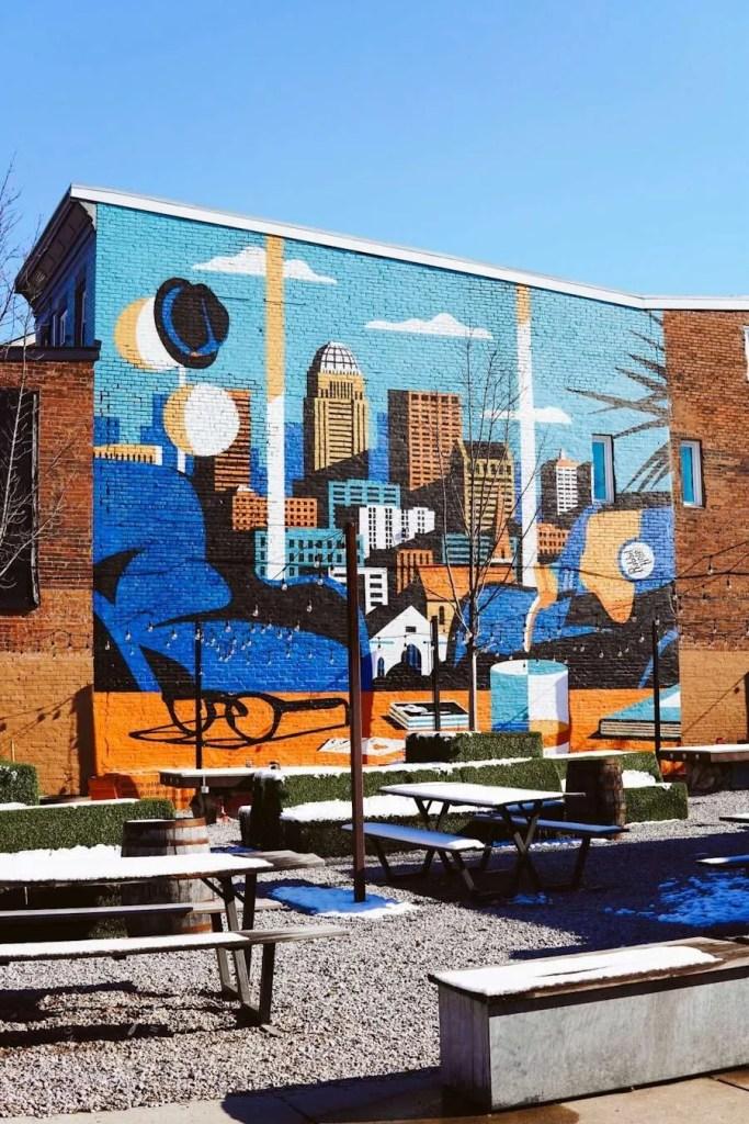 Louisville City Garage Bar Mural - Louisville Murals