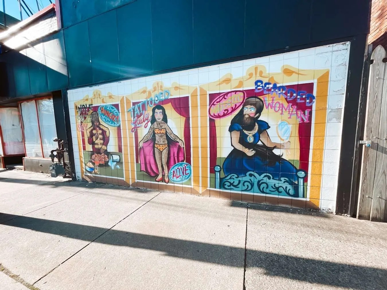 circus women murals louisville kentucky