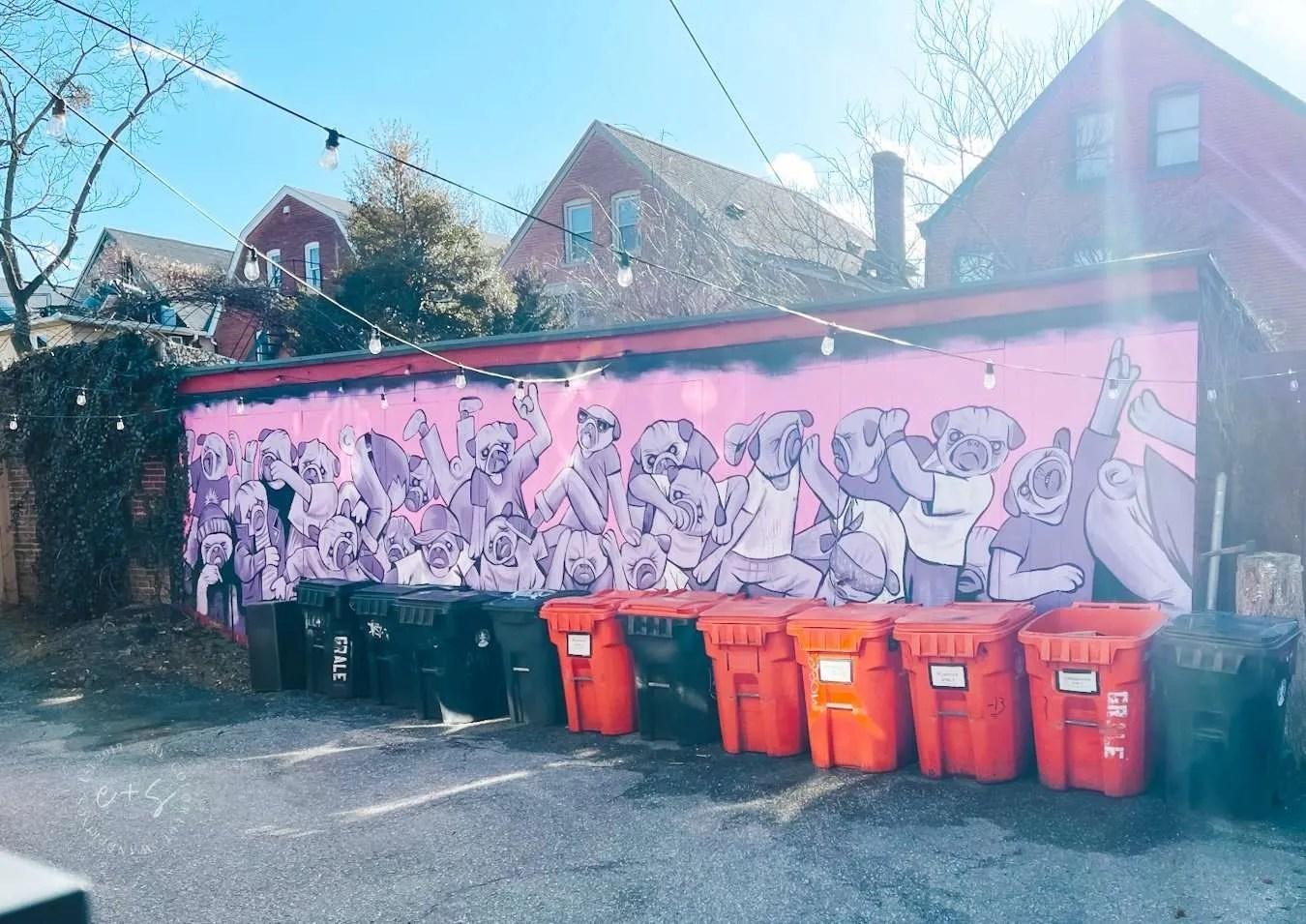 pugs mural louisville kentucky