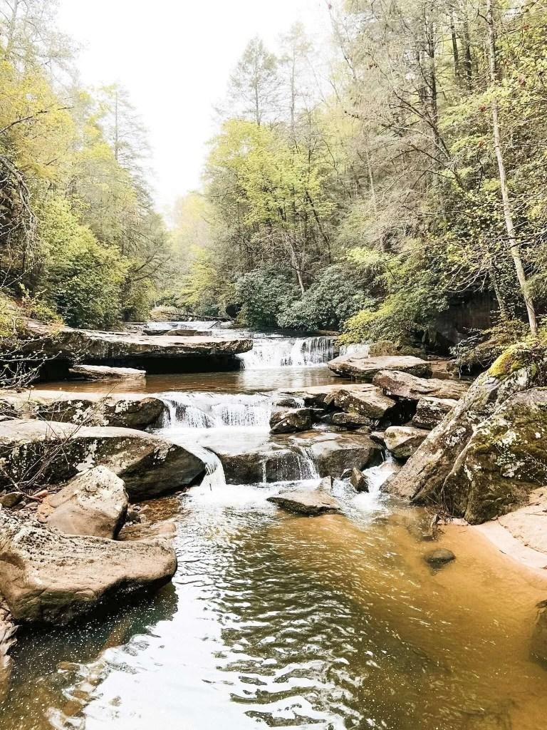 Bark Camp Creek Waterfall Trail - Kentucky Hiking, Hiking in Kentucky, Hiking trails in Kentucky, best hiking in Kentucky, best hikes in Kentucky, waterfalls in Kentucky, Kentucky waterfalls, hiking trail with waterfalls