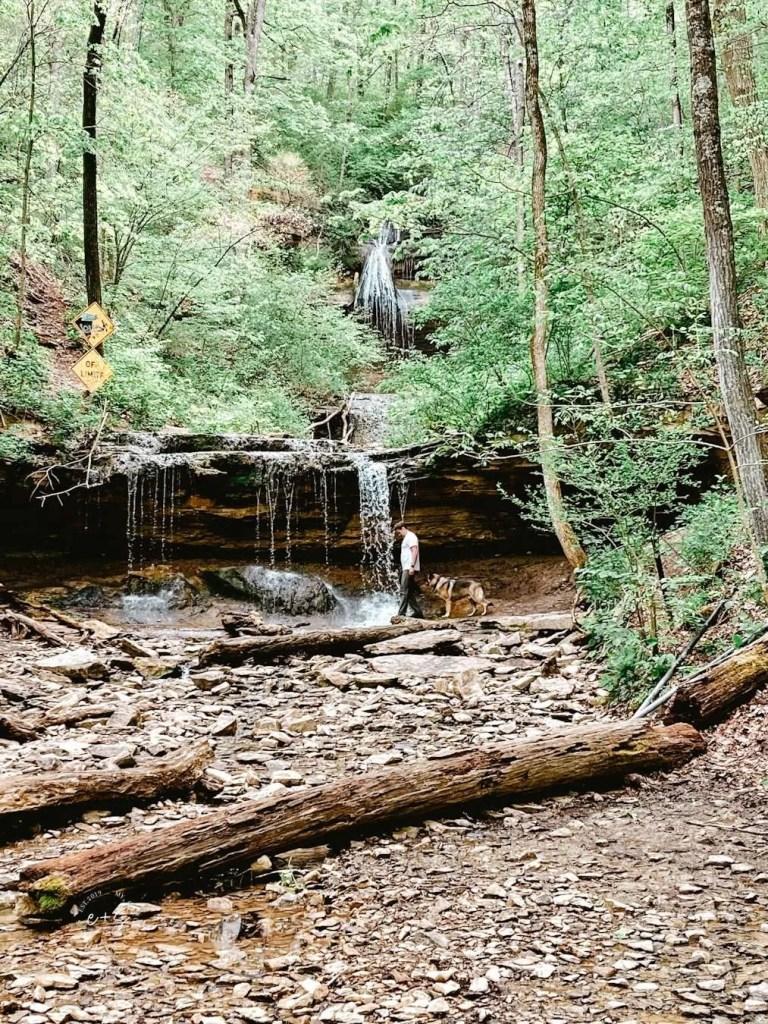 Tioga Falls - Kentucky Hiking, Hiking in Kentucky, Hiking trails in Kentucky, best hiking in Kentucky, best hikes in Kentucky, waterfalls in Kentucky, Kentucky waterfalls, hiking trail with waterfalls