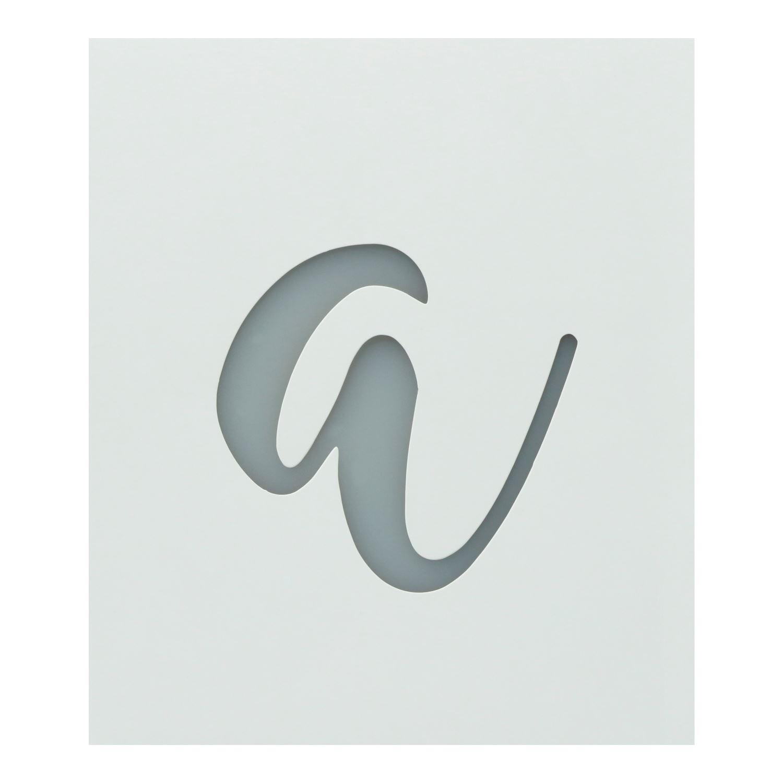 Premium Monogram Stencils Lowercase Cursive Alphabet 26 Pack Colorshot Paint