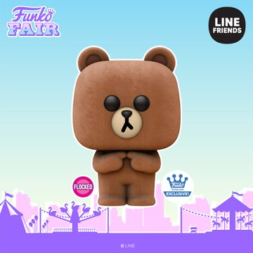 funko fair day 7 animation toy fair 2021 line friends brown flocked shop exclusive