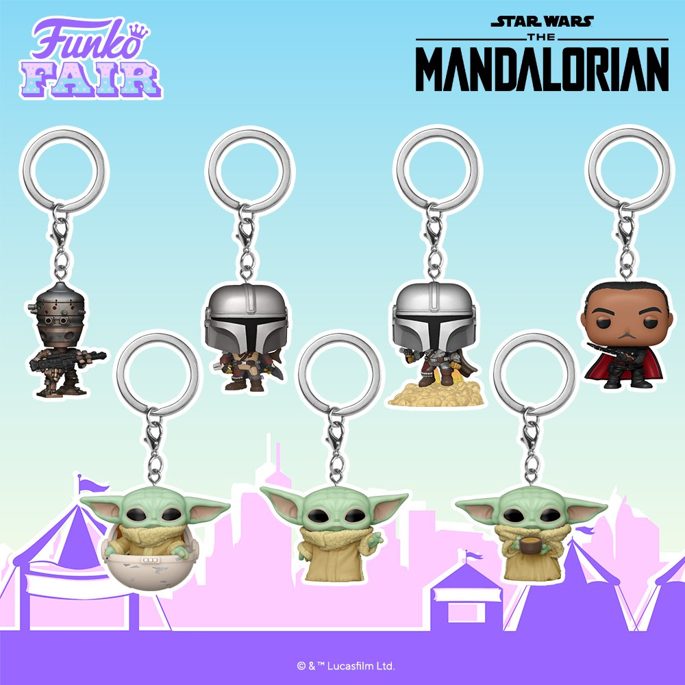 Funko Toy Fair Star Wars Mandalorian Pop! Keychain Preorder IG-11 Mando Din Djarin Moff Gideon Baby Yoda Child Grogu