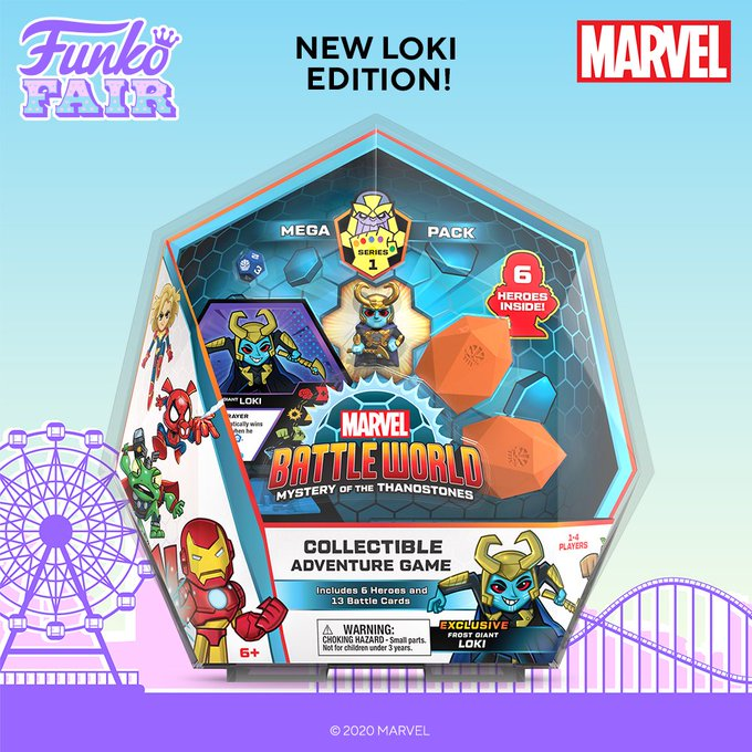funko fair day 4 2021 marvel battle world mystery of the thanostones frost giant loki collectible adventure game exclusive