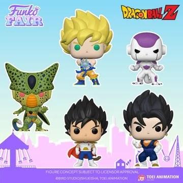 funko toy fair 2021 anime day 2 dragon ball z cell super saiyan goku kamehameha frieza prince vegeta vegito preorder