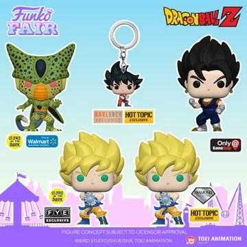 funko toy fair 2021 anime day 2 dragon ball z exclusive pocket pop keychain cell goku vegito metallic super saiyan goku kamehameha glow in the dark diamond collection preorder walmart box lunch gamestop fye