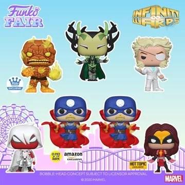 funko fair day 4 2021 marvel infinity warps glow in the dark exclusive amazon hot topic