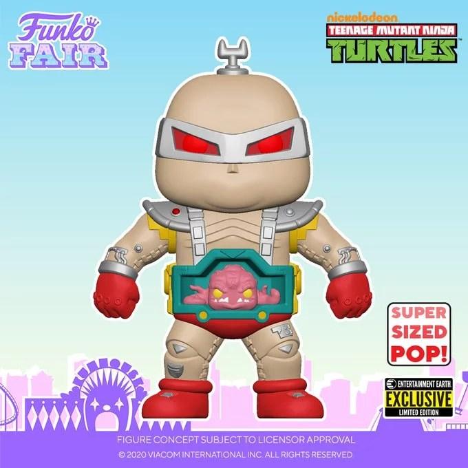 funko fair day 6 toy fair 2021 tv shows television teenage mutant ninja turtles tmnt pop krang 6 inch super sized entertainment earth exclusive retro toys