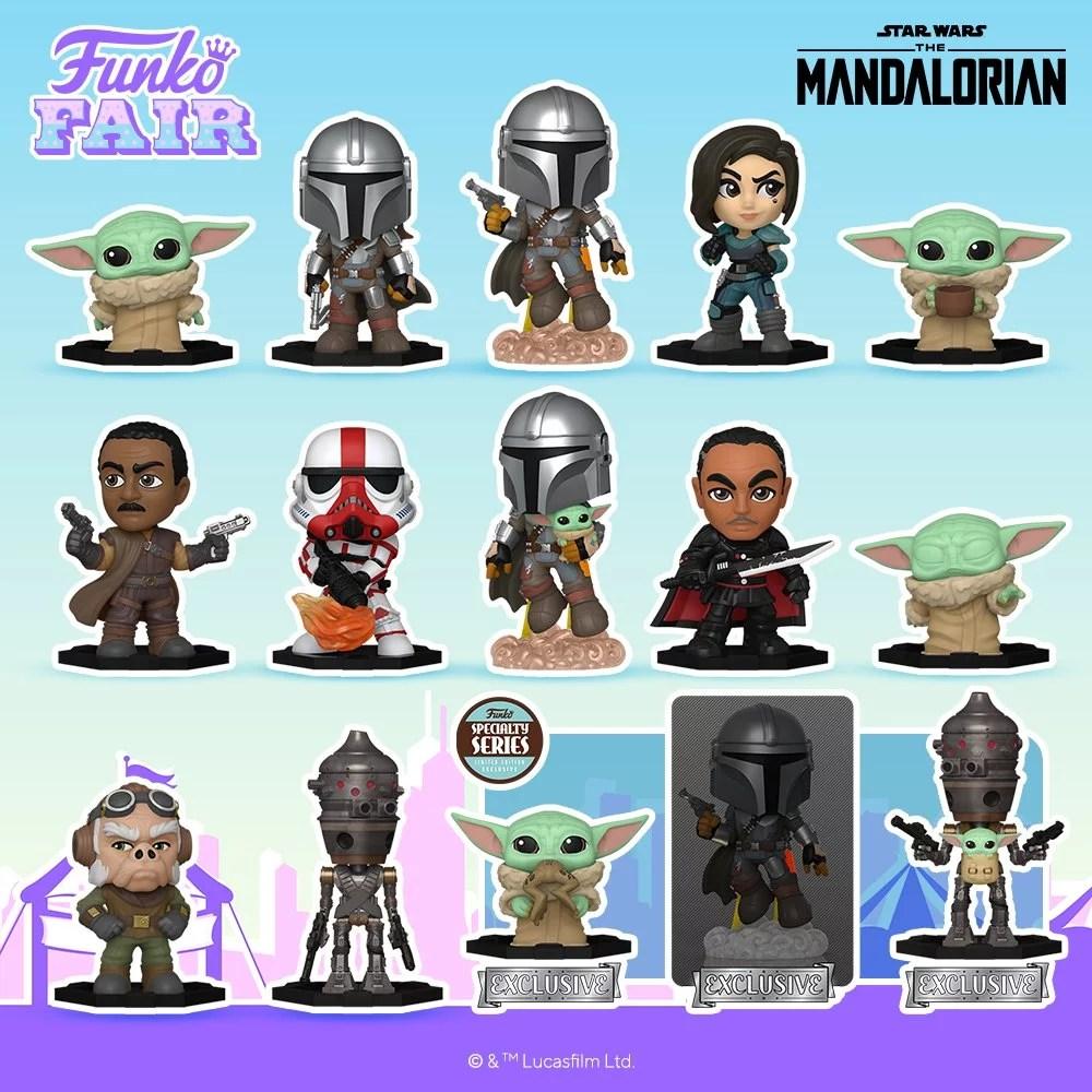 Funko Toy Fair Star Wars Mandalorian Mystery Mini Preorder Grogu Child Baby Yoda Mando Din Djarin Moff Gideon IG-11 Cara Dune Greef Karga Incinerator Trooper
