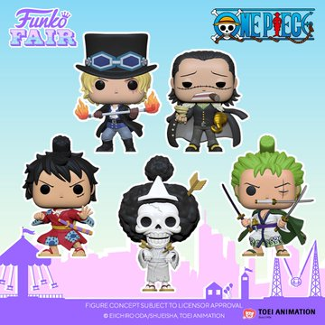 funko toy fair 2021 anime day 2 one piece pop sabo crocodile luffy kimono brook roronoa zoro preorder