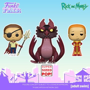 funko fair day 7 animation toy fair 2021 rick and morty queen summer evil morty balthromaw super sized 10 inch pop