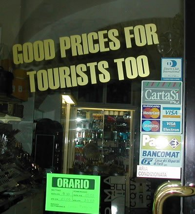 Buy a tourist!