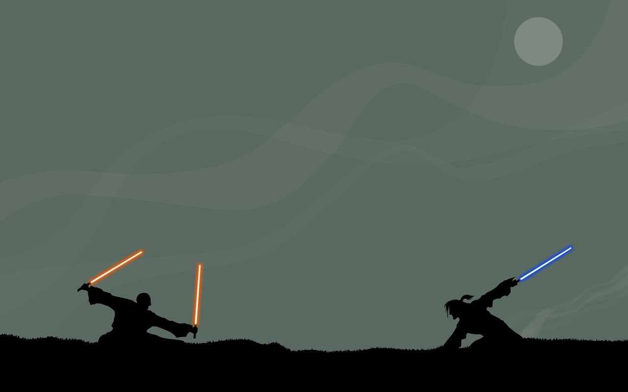 Star Wars Jedi Duel – Dual Monitor Wallpaper
