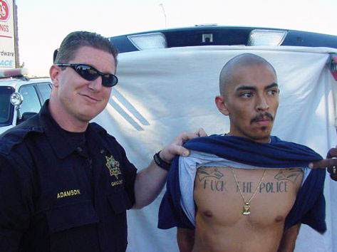 [Fuck the police tattoo]
