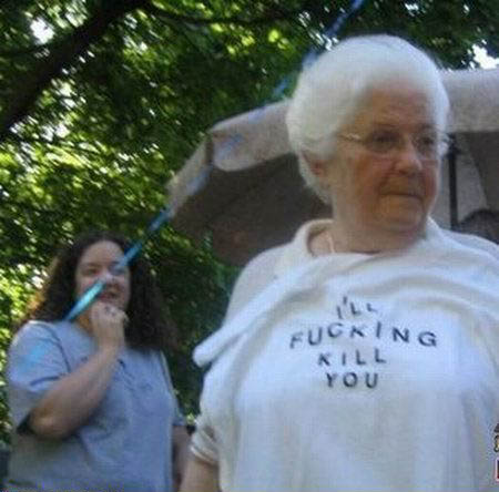 Grandma's out of control!