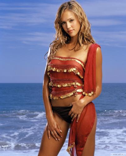 jessica-alba-red-swimsuit