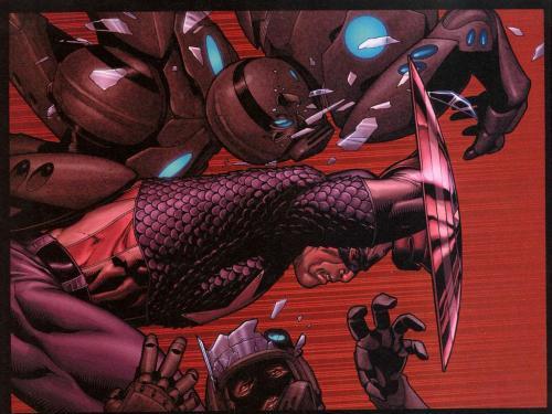 Captain America - Flying Through bad guys