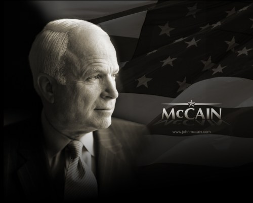 McCain - Black and White Wallpaper