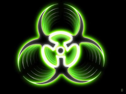 Nuclear Symbol In Green