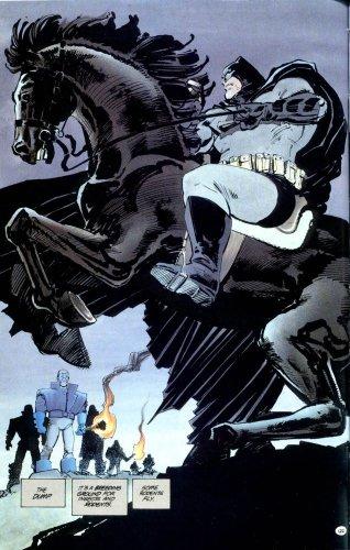Batman rides a pony