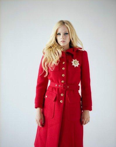 Avril Lavigne Red Coat Dress