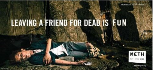 Leaving a friend for dead is fun - on meth