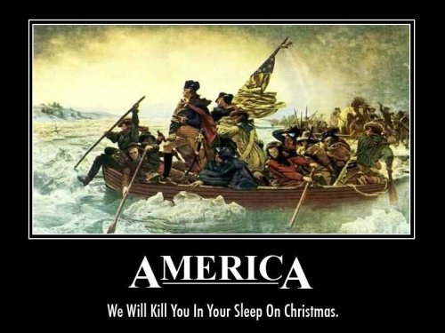 America - We Will Kill You In Your Sleep on Christmas