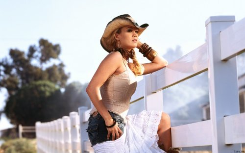 carrie underwood - sexy cowgirl wallpaper