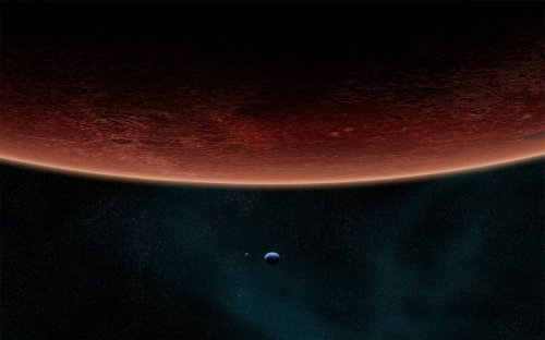 red planet and moons