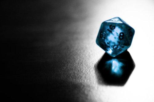 Clear Blue D20
