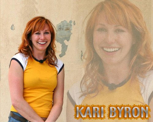 kari byron - yellow and white