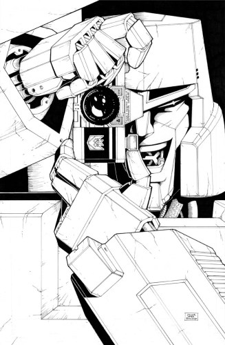 megatron takes a picture