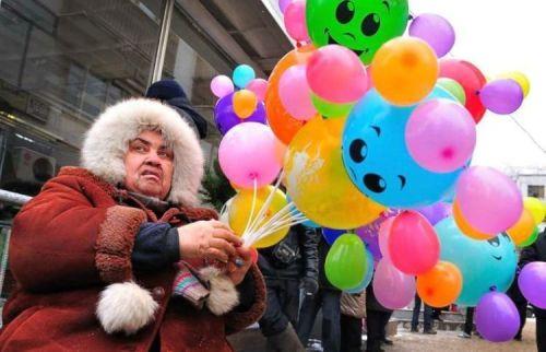unhappy happy balloon holder