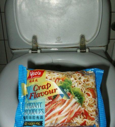 crap flavored instant noodles