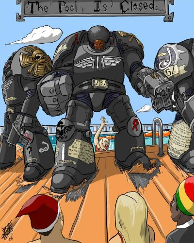 warhammer 40k - the pool is closed