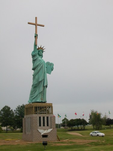 christian statue of liberty