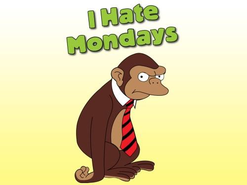 i hate mondays monkey