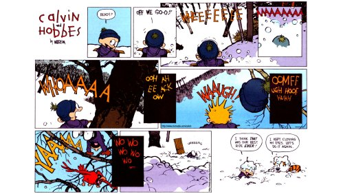 calvin and hobbes survive a deadly hill
