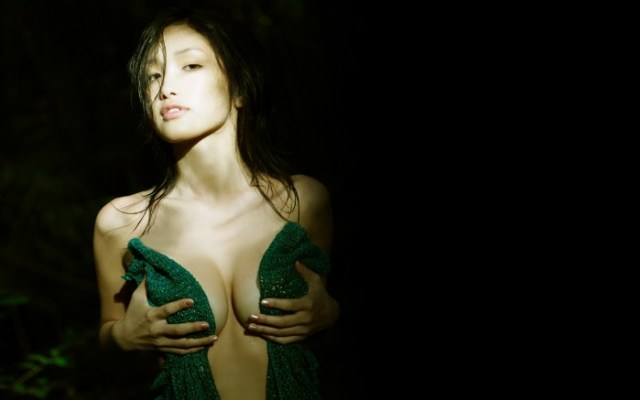nsfw - green covered boobs