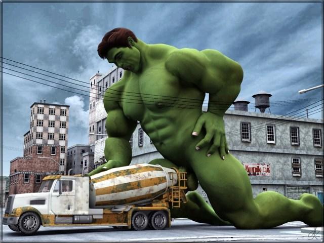 nsfw - hulk fucking a cement truck