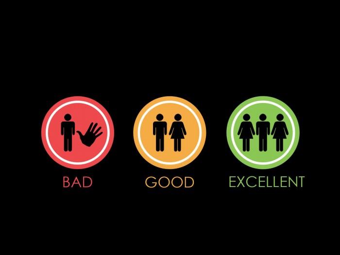 bad good excellent