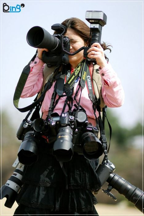 multicamera photographer