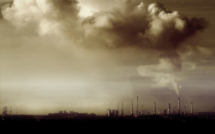 pollution of the sky