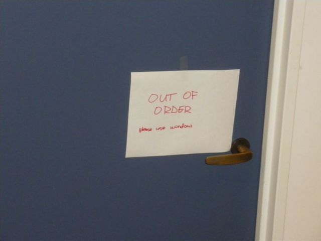 out of order - please use window