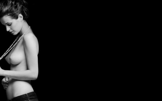 nsfw - topless girl in black